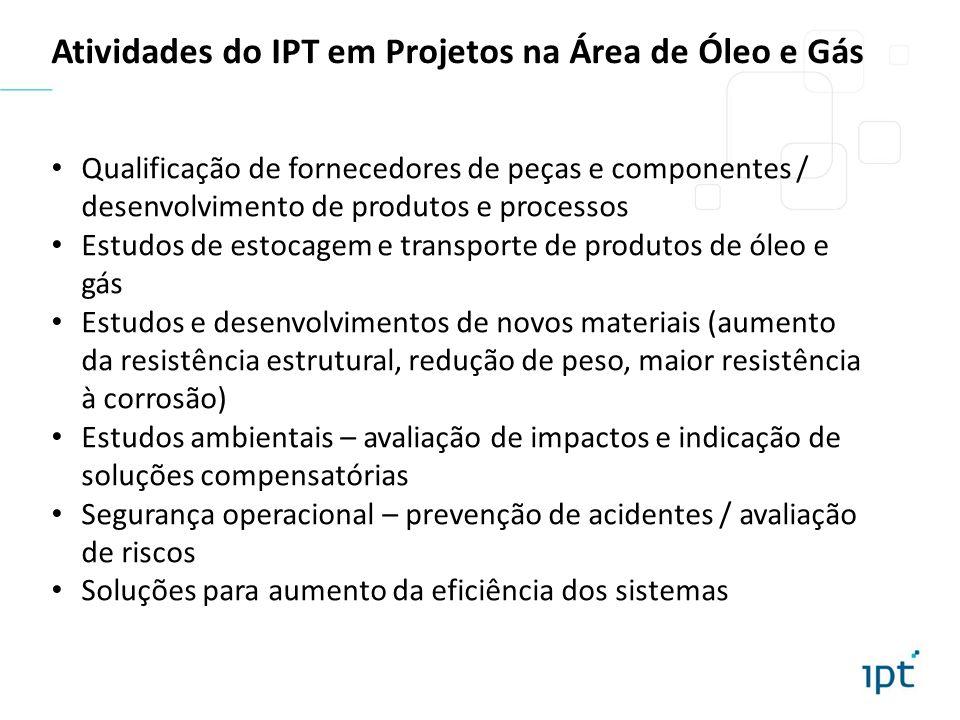 Atividades do IPT em Projetos na Área de Óleo e Gás