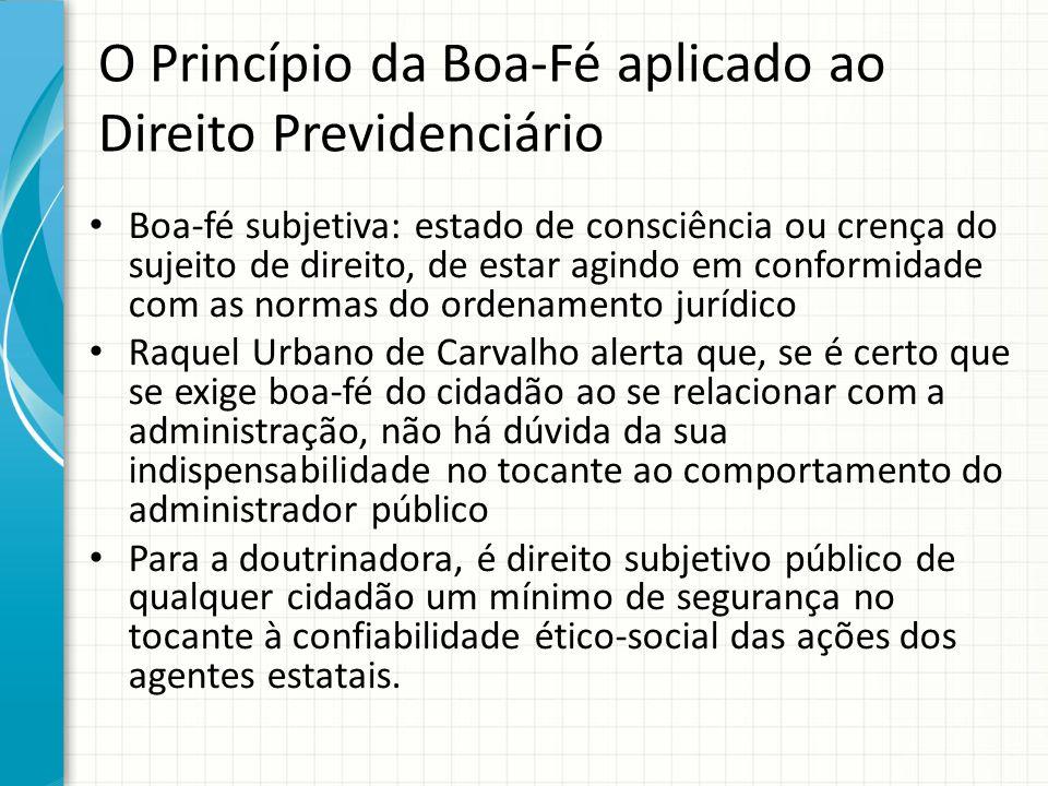 O Princípio da Boa-Fé aplicado ao Direito Previdenciário