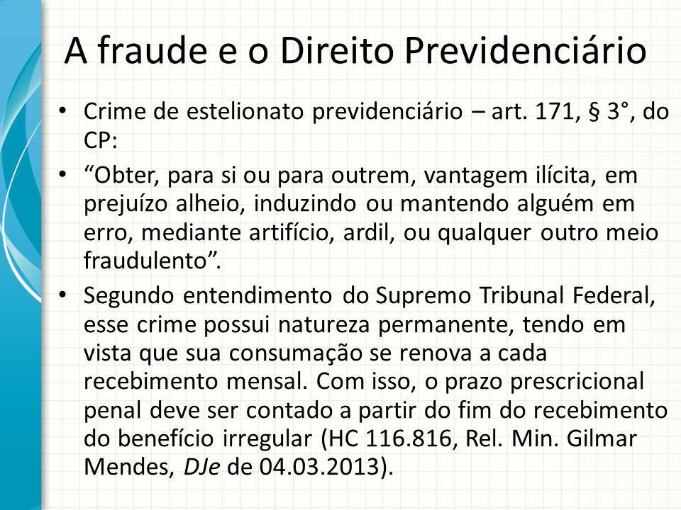 A fraude e o Direito Previdenciário