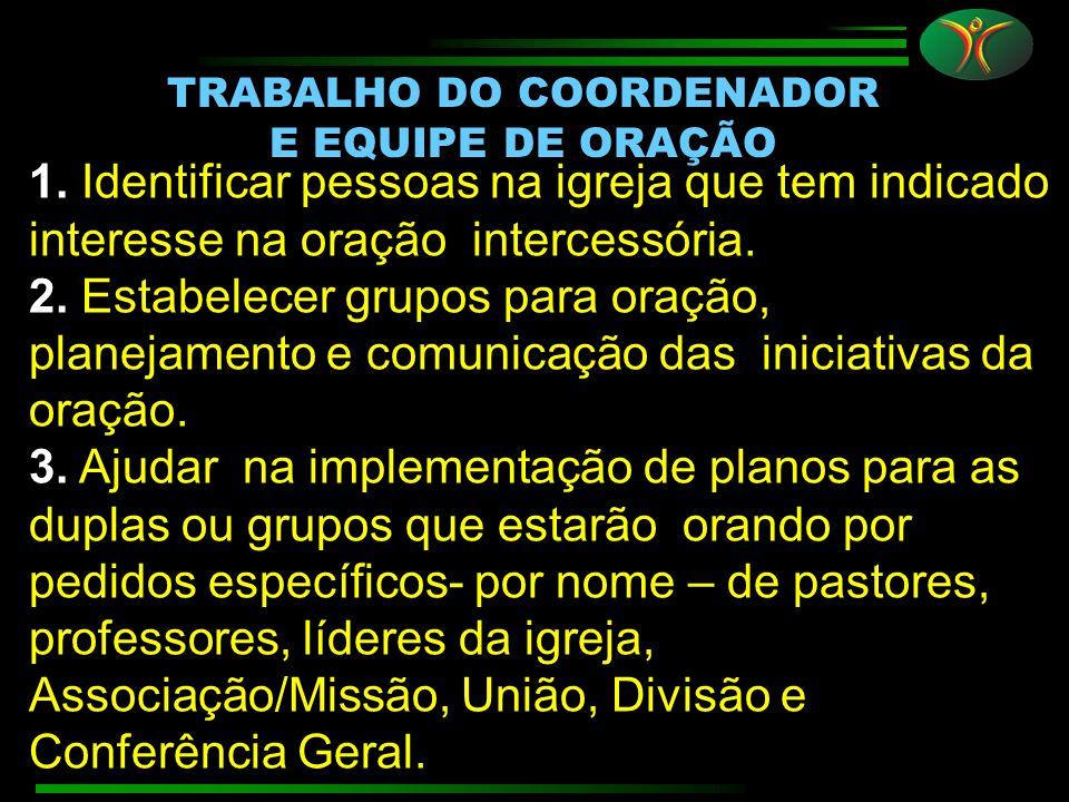 TRABALHO DO COORDENADOR