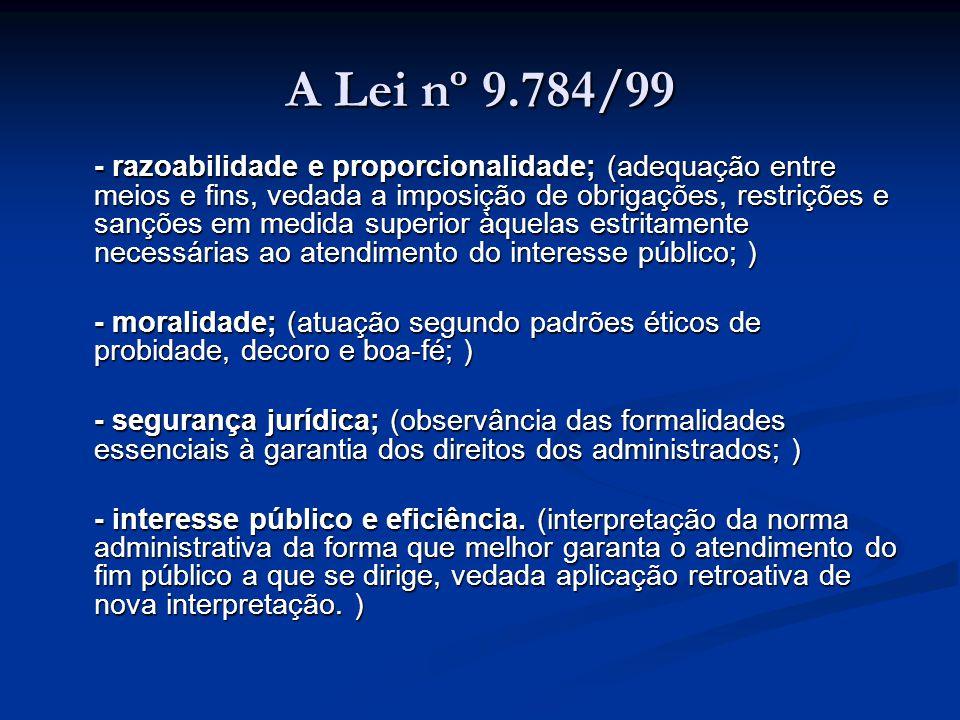 A Lei nº 9.784/99
