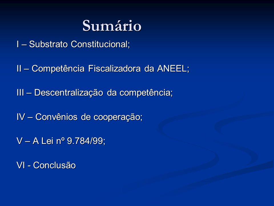 Sumário I – Substrato Constitucional;