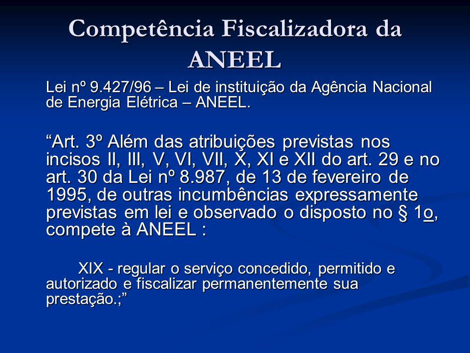 Competência Fiscalizadora da ANEEL