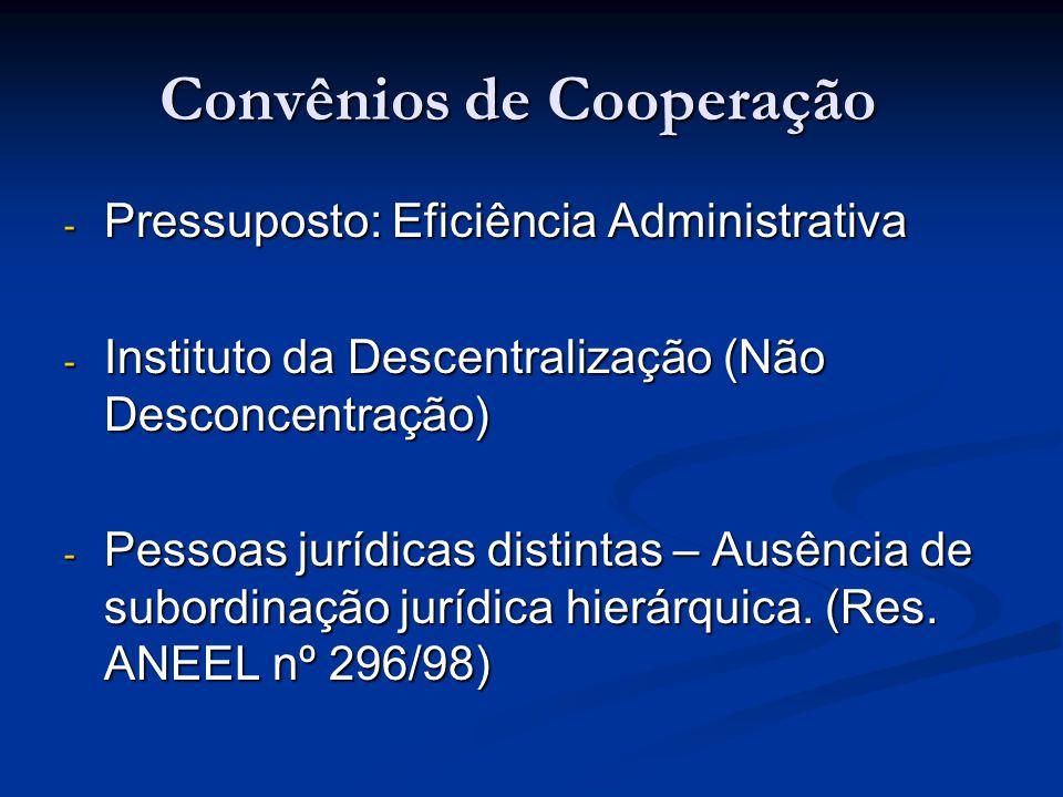 Convênios de Cooperação