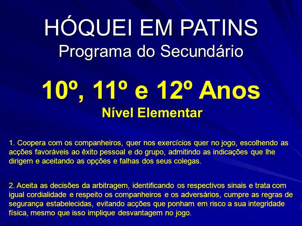 10º, 11º e 12º Anos Nível Elementar