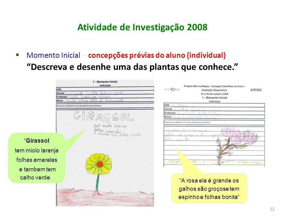 Atividade de Investigação 2008