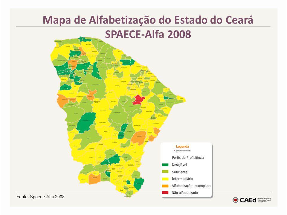 Mapa de Alfabetização do Estado do Ceará SPAECE-Alfa 2008