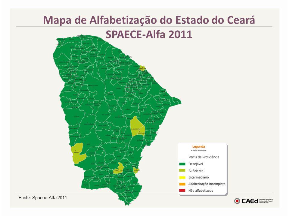 Mapa de Alfabetização do Estado do Ceará SPAECE-Alfa 2011