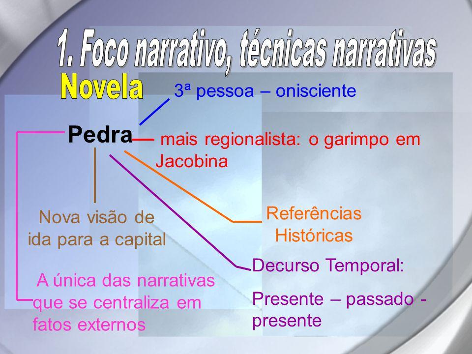1. Foco narrativo, técnicas narrativas