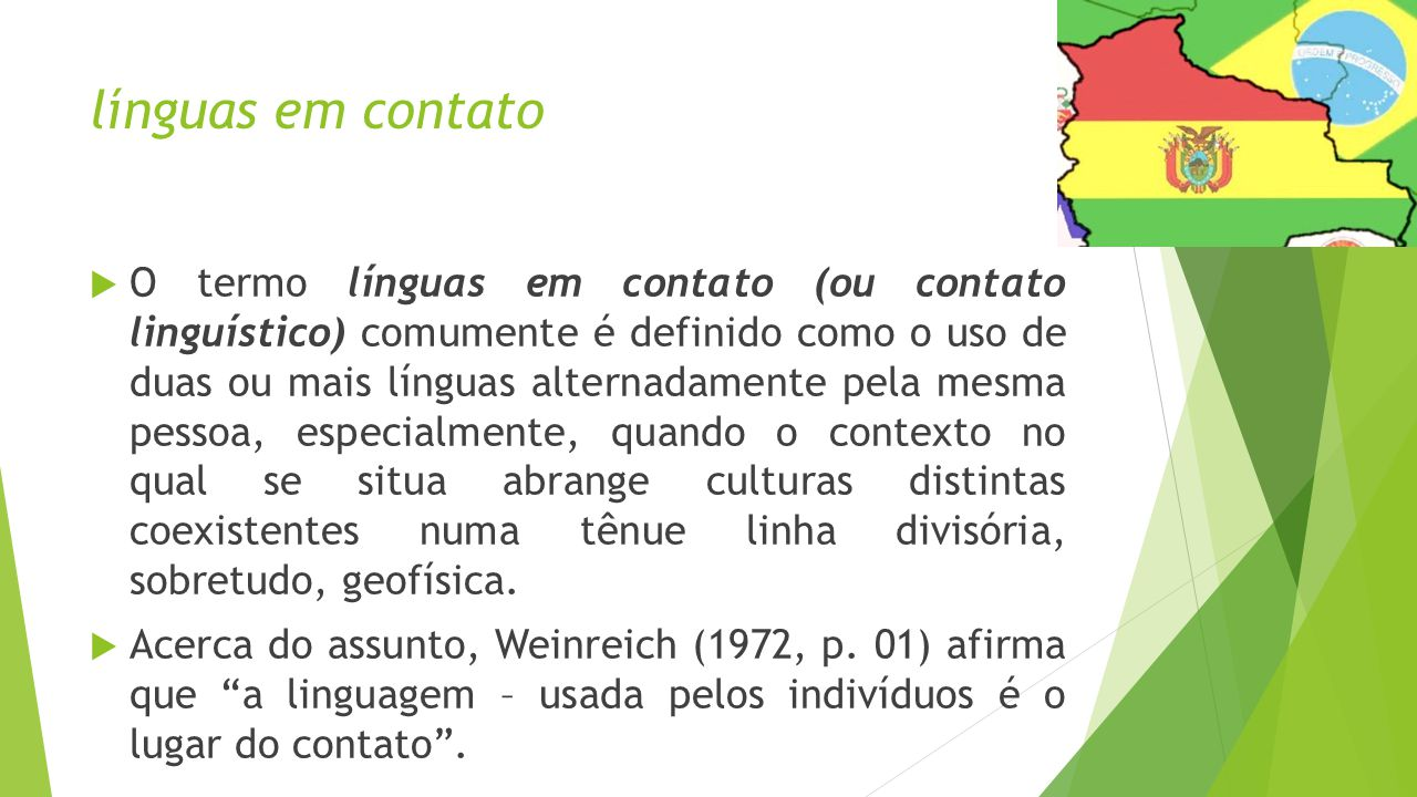 línguas em contato