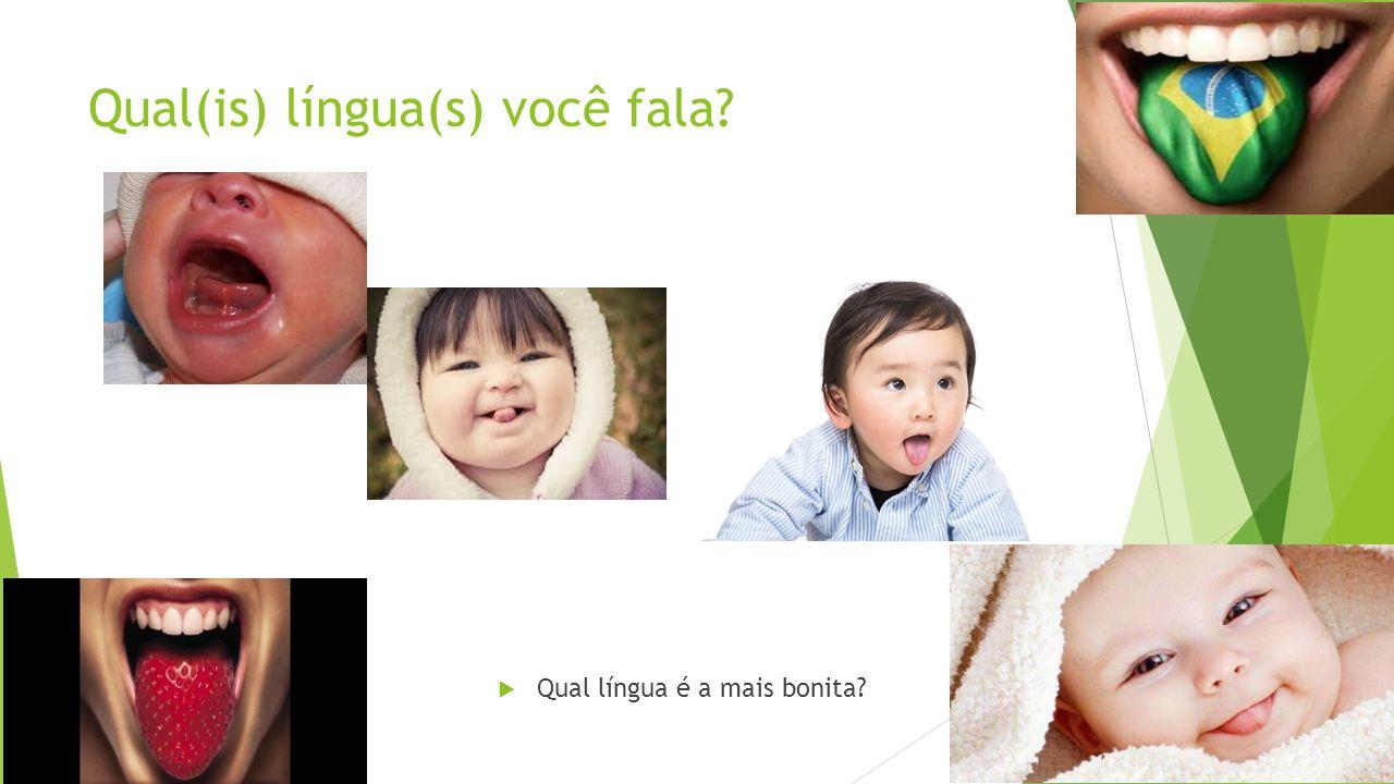 Qual(is) língua(s) você fala