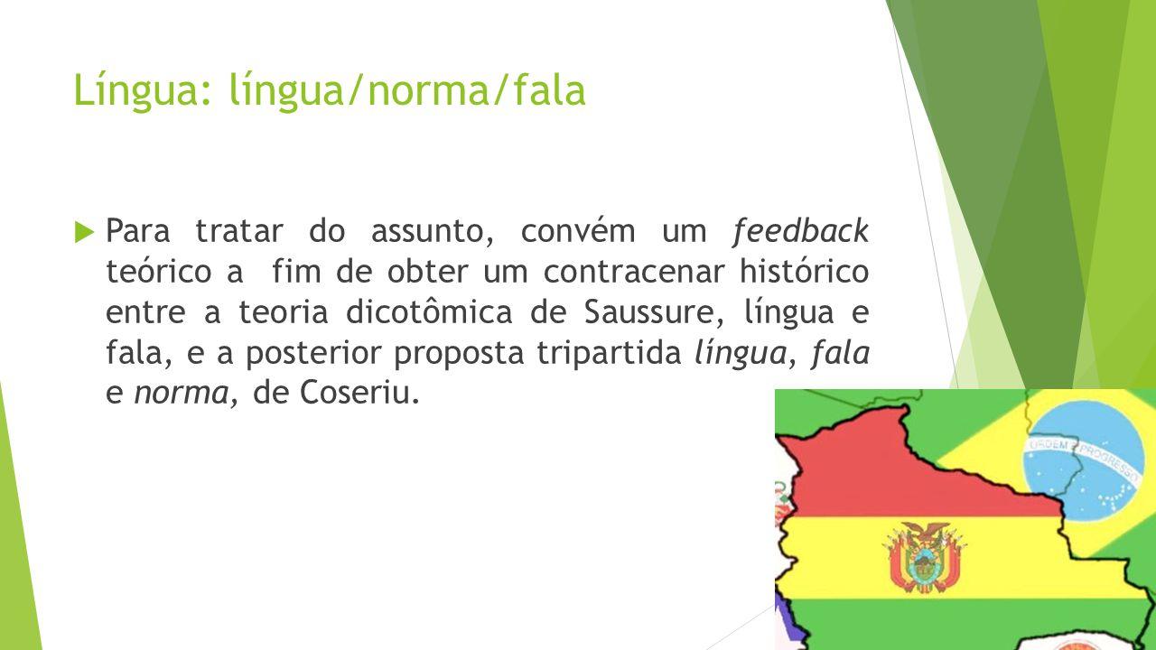 Língua: língua/norma/fala
