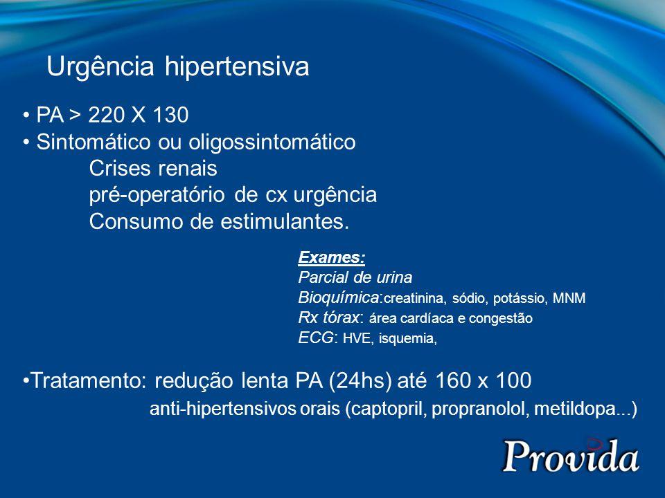 Urgência hipertensiva