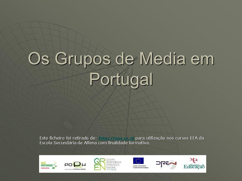 Os Grupos de Media em Portugal