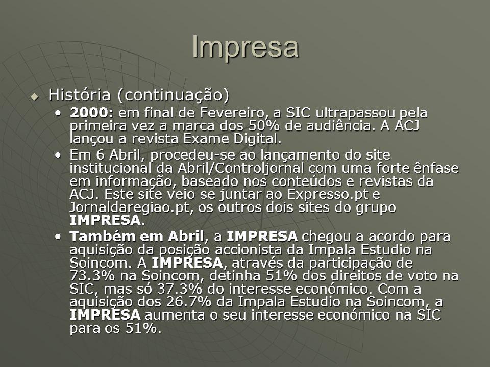 Impresa História (continuação)