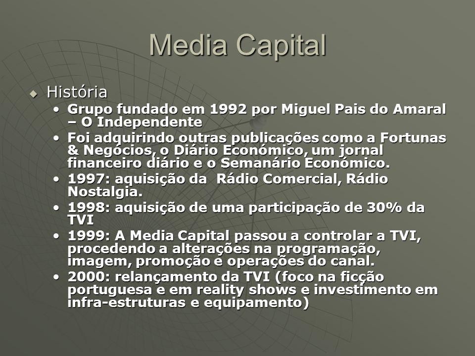 Media Capital História
