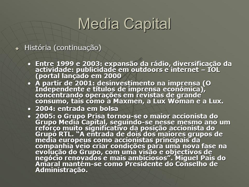 Media Capital História (continuação)