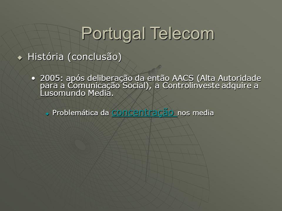 Portugal Telecom História (conclusão)