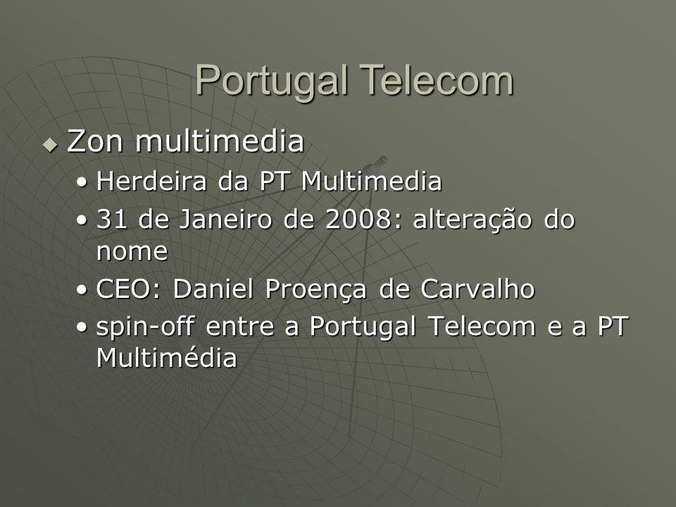 Portugal Telecom Zon multimedia Herdeira da PT Multimedia