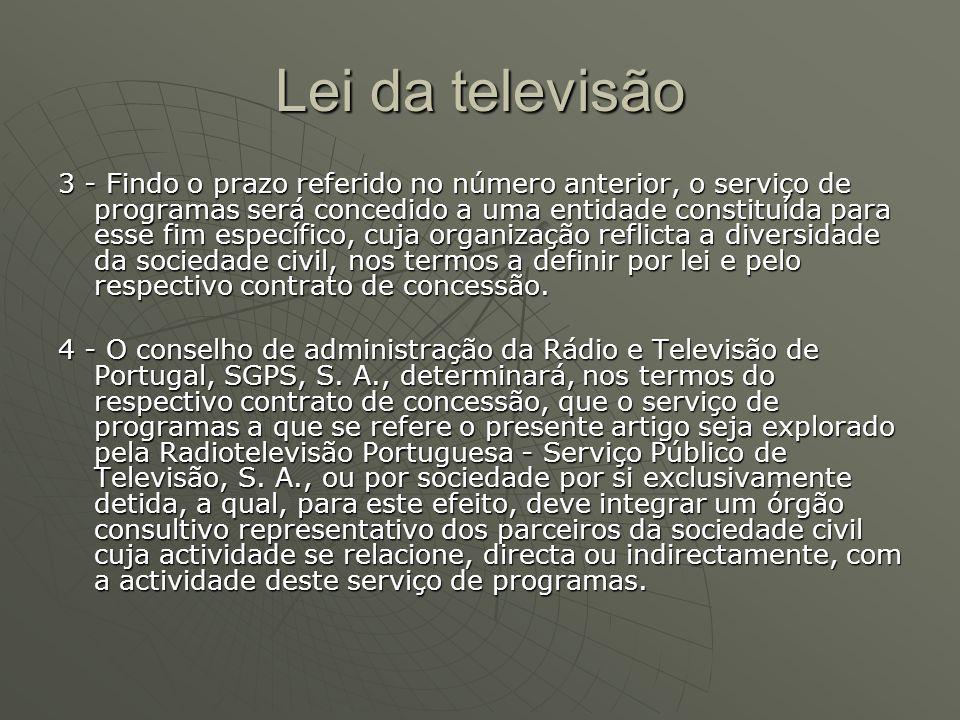 Lei da televisão