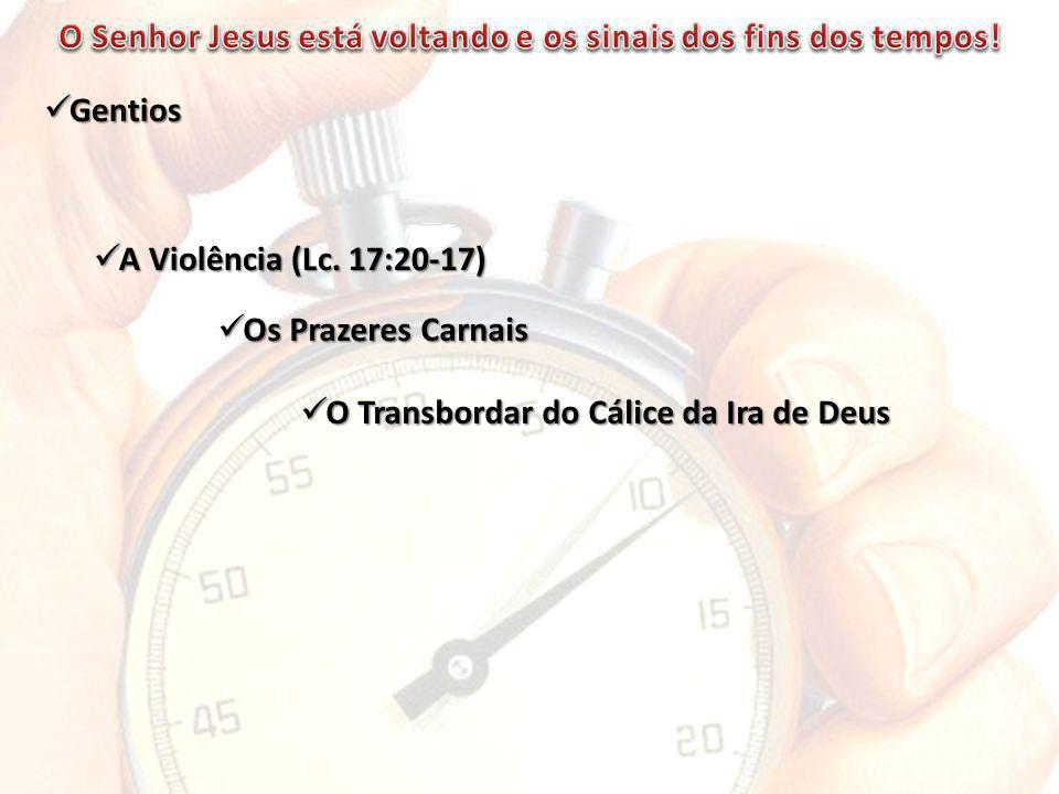 O Senhor Jesus está voltando e os sinais dos fins dos tempos!