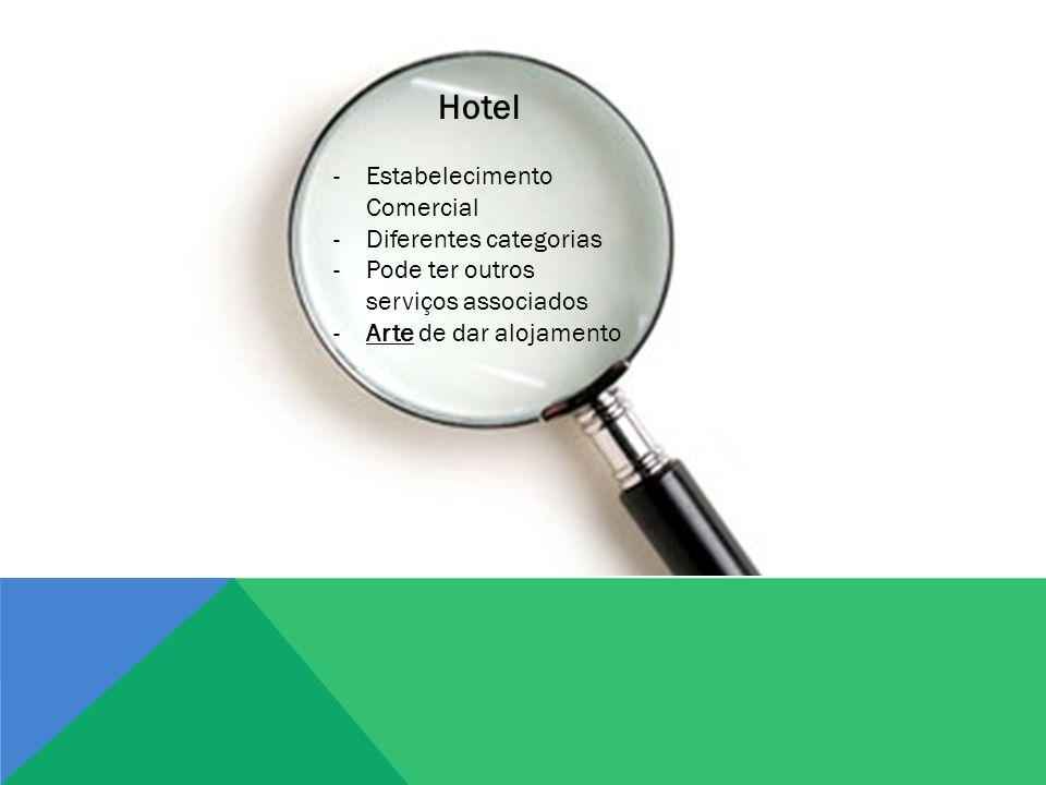 Hotel Estabelecimento Comercial Diferentes categorias