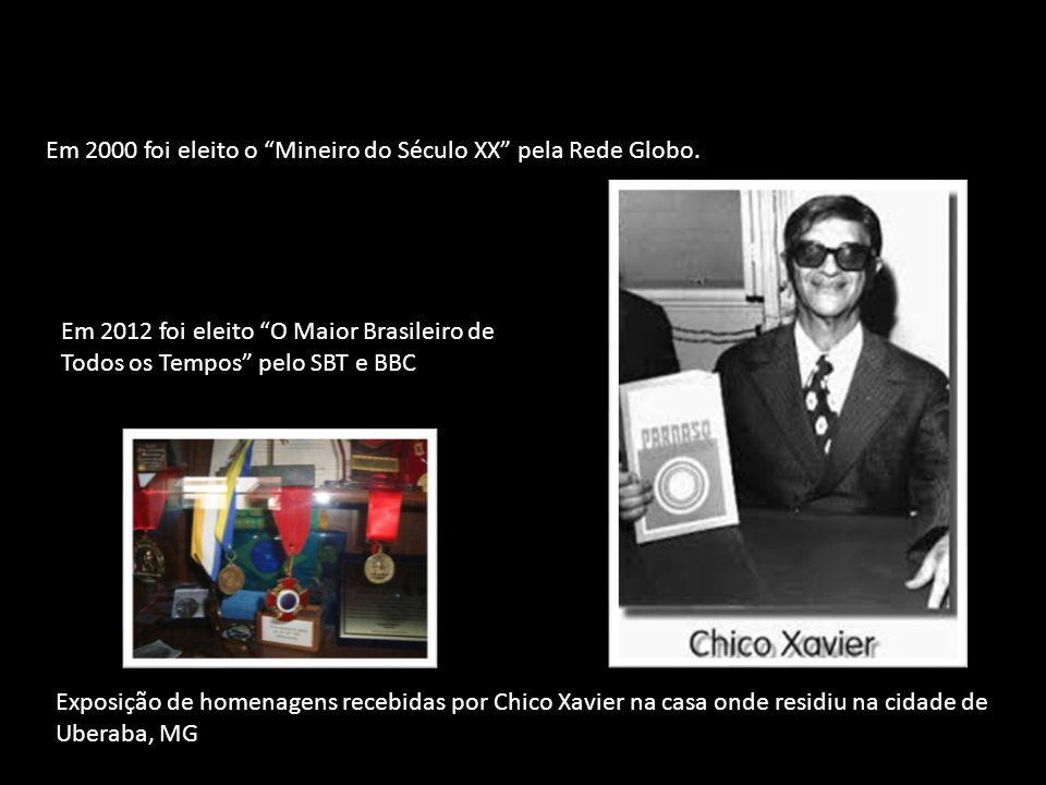 Em 2000 foi eleito o Mineiro do Século XX pela Rede Globo.