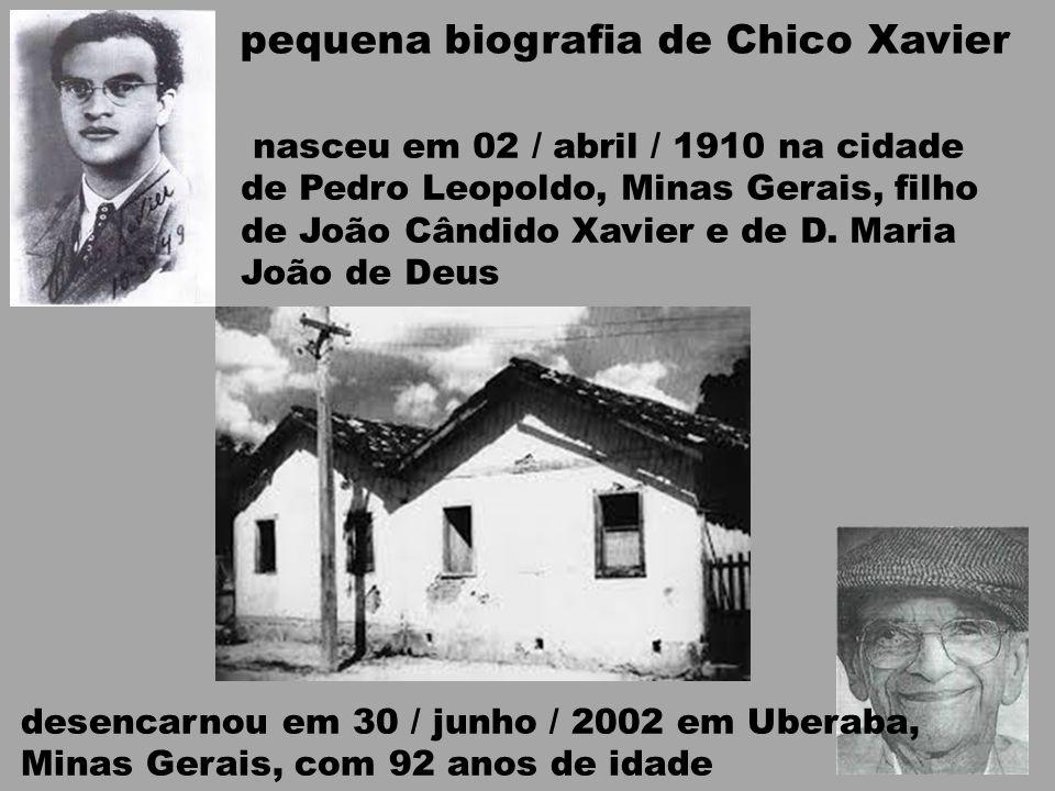 pequena biografia de Chico Xavier