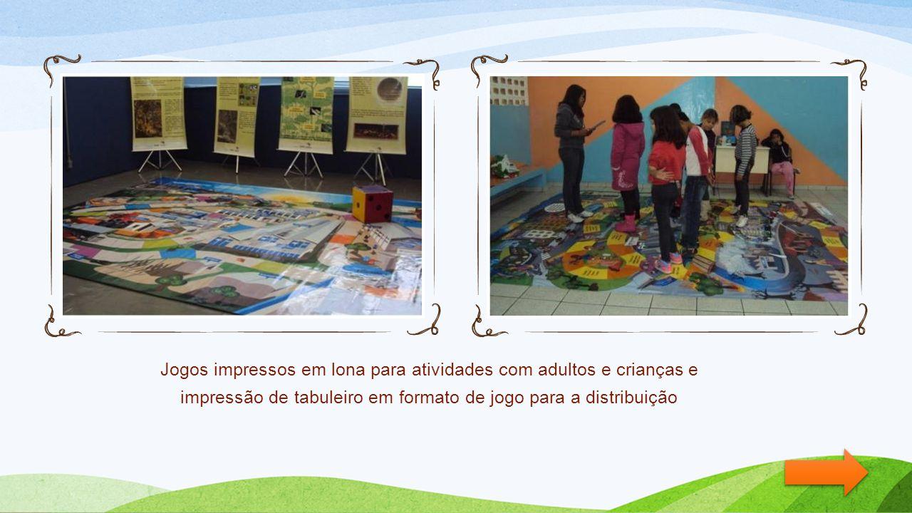 Jogos impressos em lona para atividades com adultos e crianças e impressão de tabuleiro em formato de jogo para a distribuição