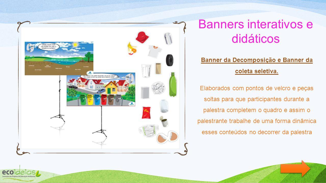 Banners interativos e didáticos