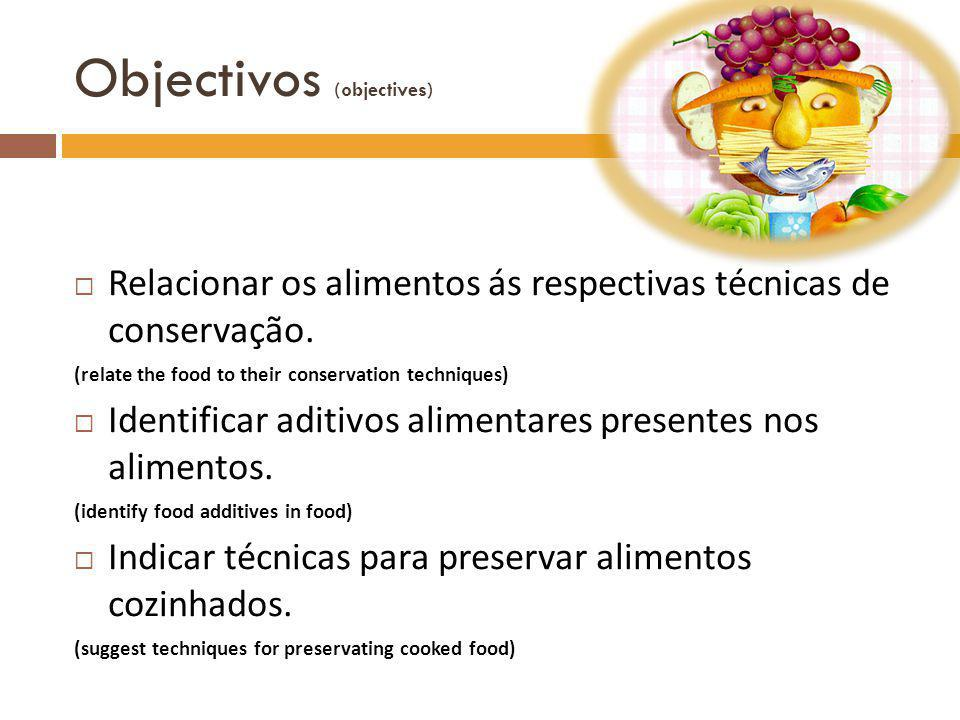 Objectivos (objectives)