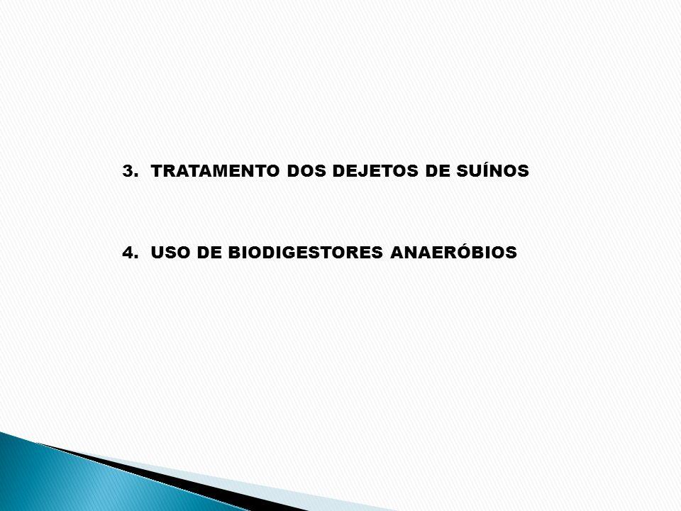 3. TRATAMENTO DOS DEJETOS DE SUÍNOS