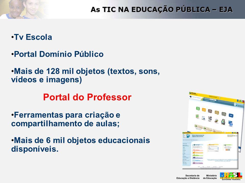 As TIC NA EDUCAÇÃO PÚBLICA – EJA