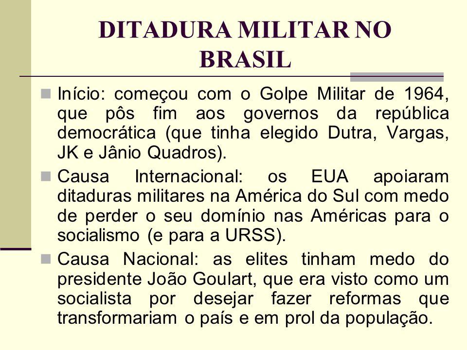 DITADURA MILITAR NO BRASIL