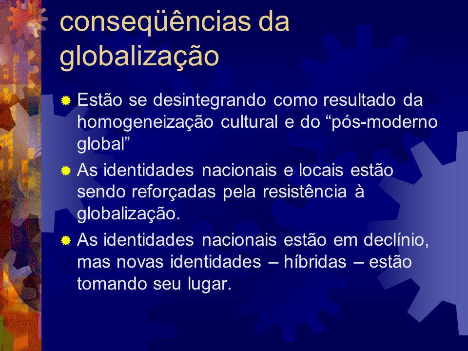 Identidades nacionais: conseqüências da globalização