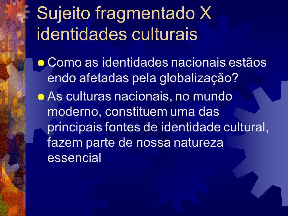 Sujeito fragmentado X identidades culturais