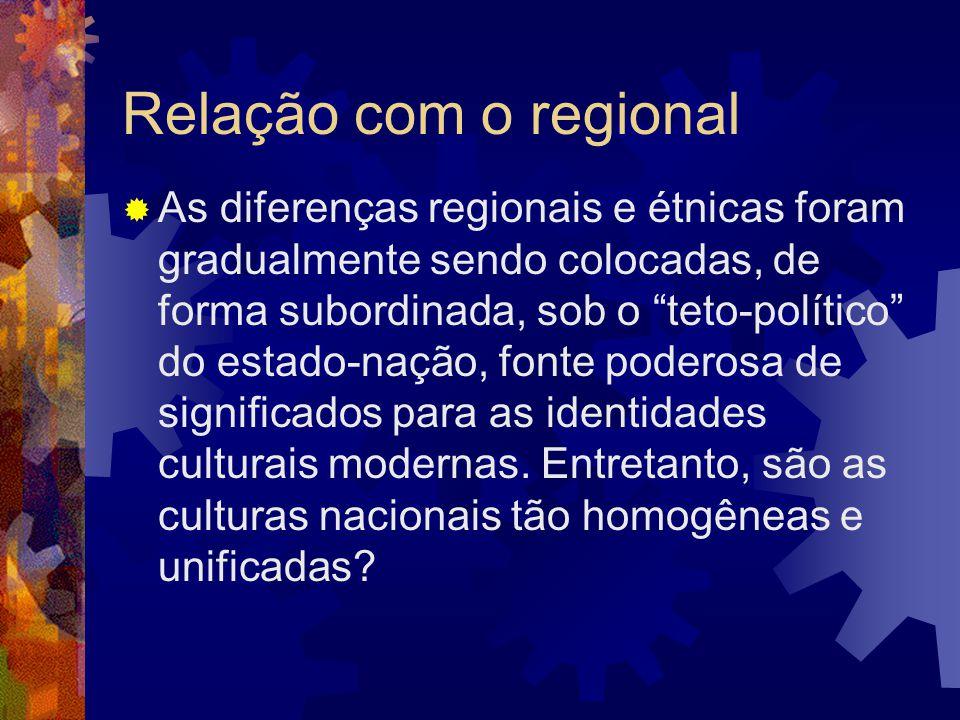 Relação com o regional