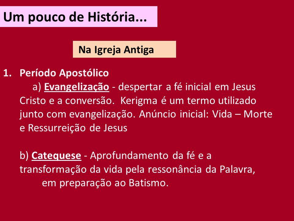 Um pouco de História... Na Igreja Antiga Período Apostólico