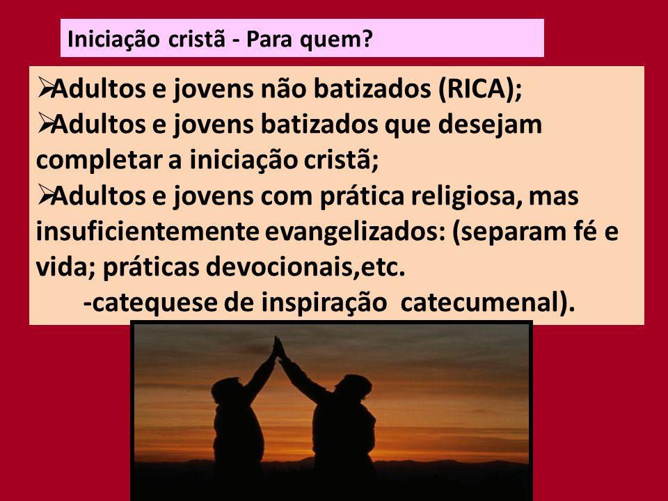 Adultos e jovens não batizados (RICA);