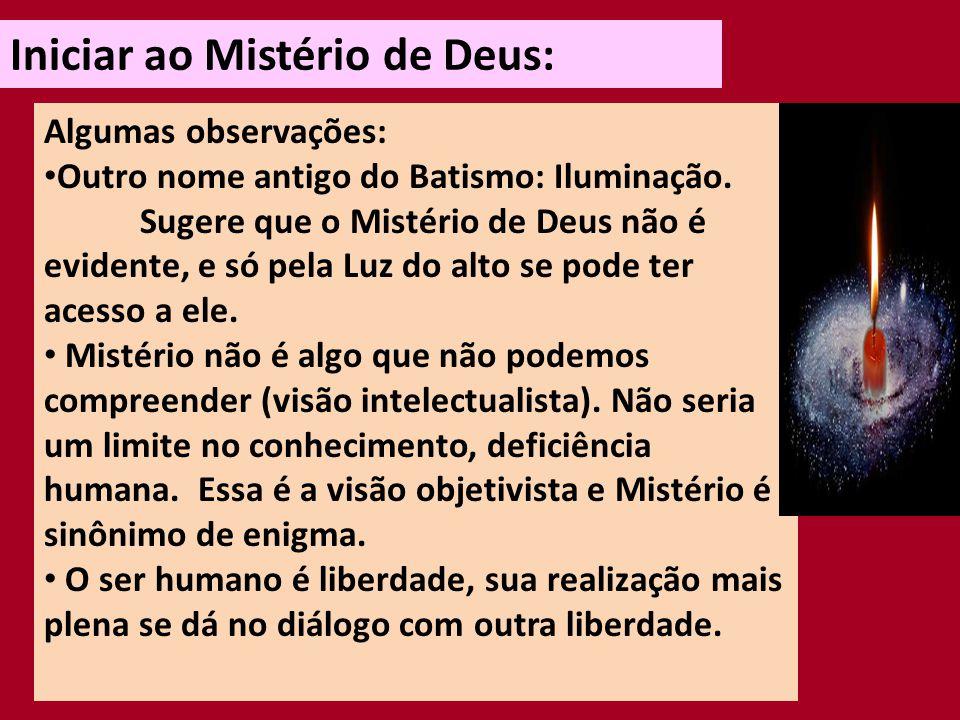 Iniciar ao Mistério de Deus: