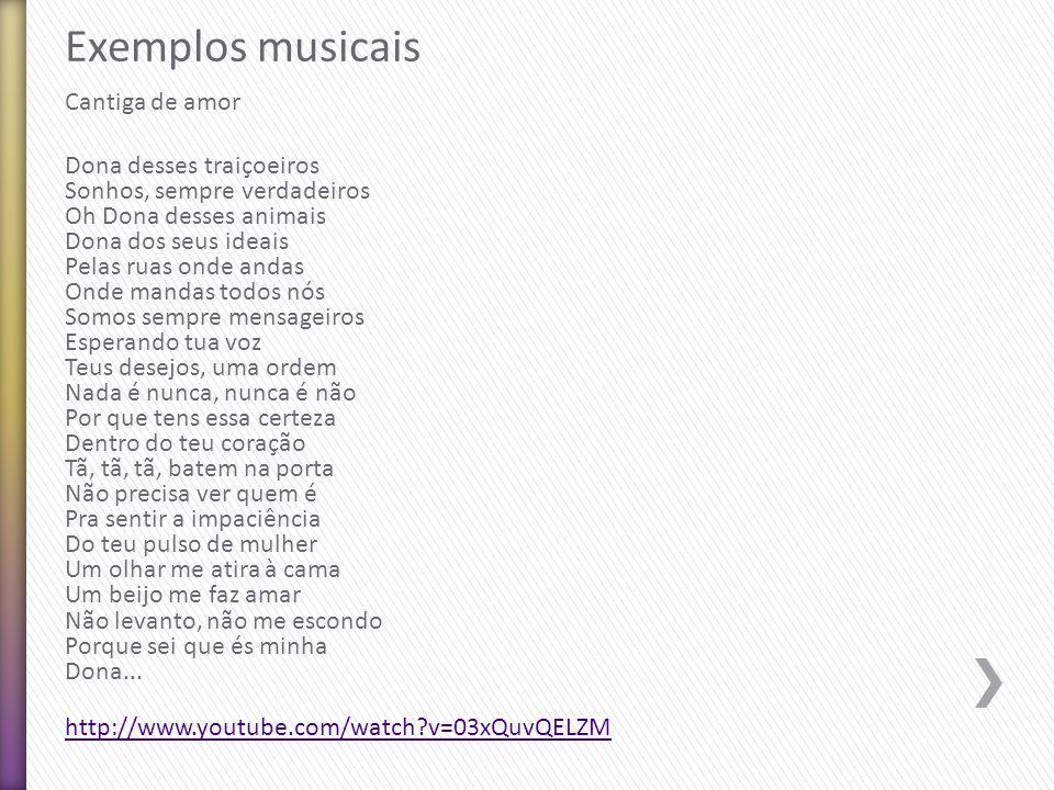 Exemplos musicais Cantiga de amor