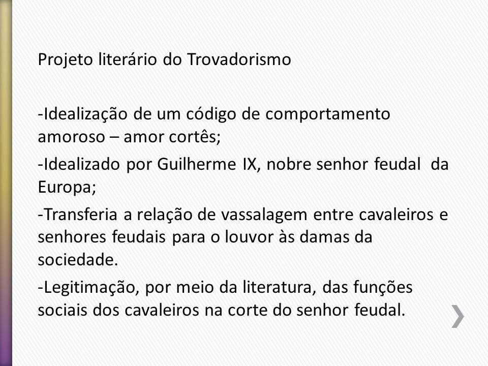 Projeto literário do Trovadorismo