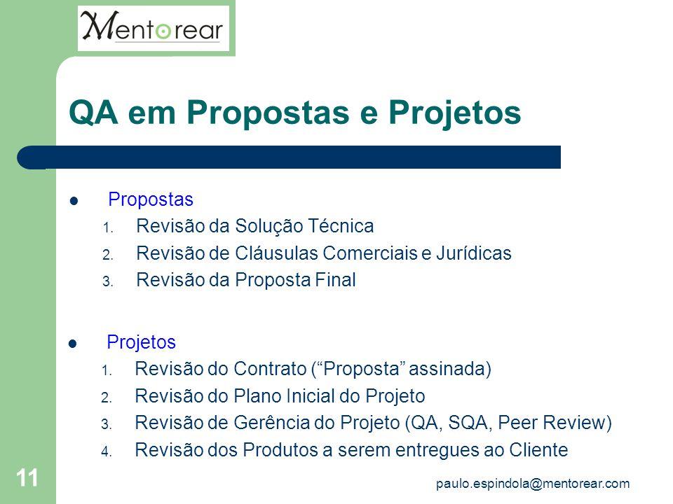QA em Propostas e Projetos