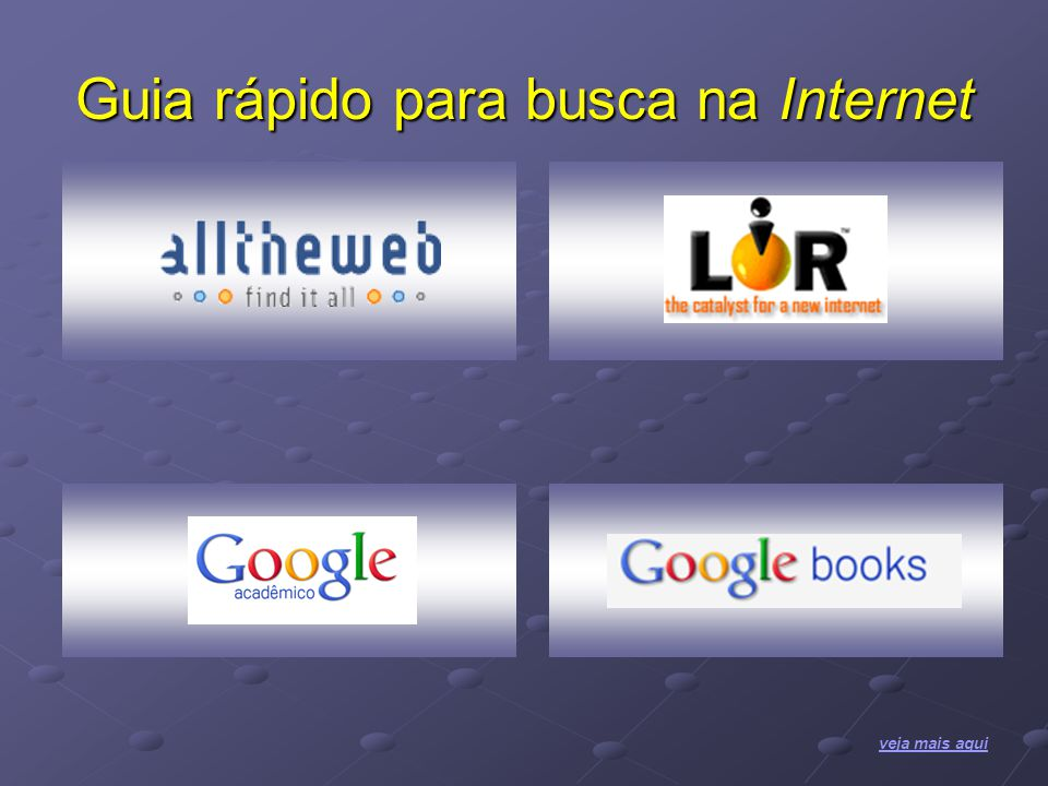 Guia rápido para busca na Internet