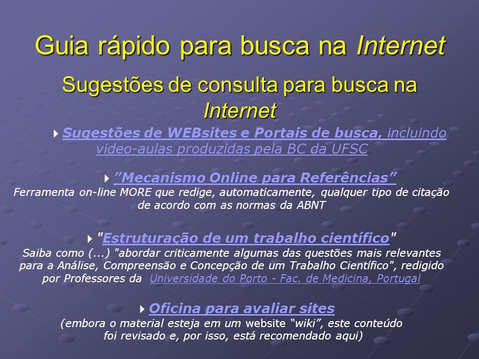 Sugestões de consulta para busca na Internet