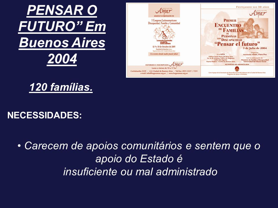 PENSAR O FUTURO Em Buenos Aires 2004