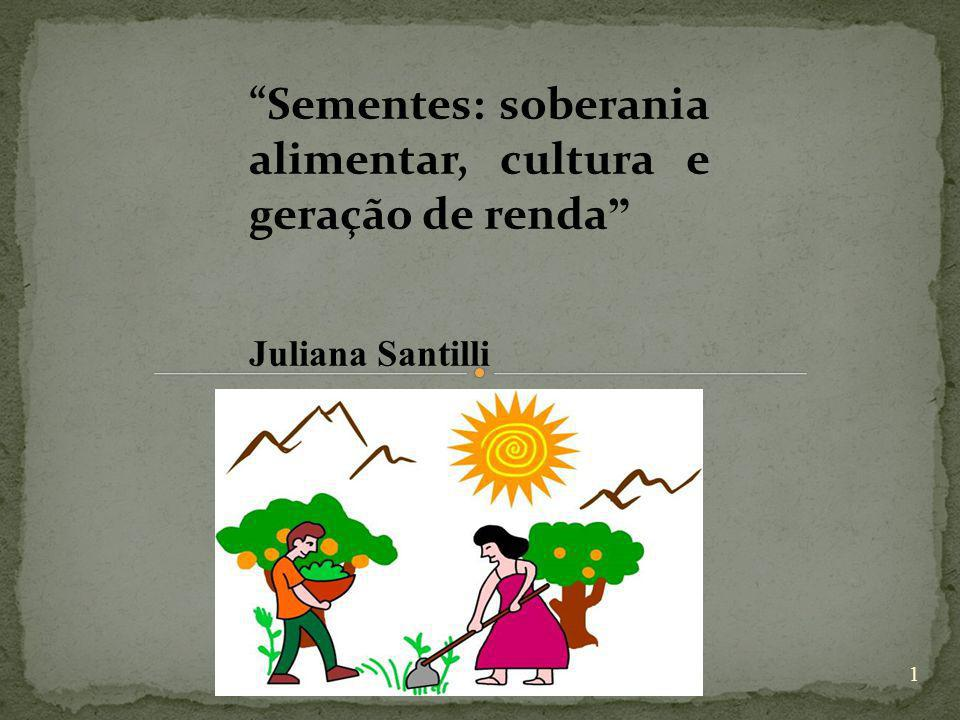 Sementes: soberania alimentar, cultura e geração de renda