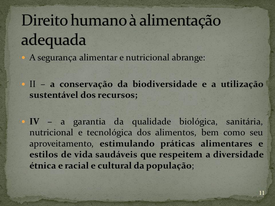 Direito humano à alimentação adequada