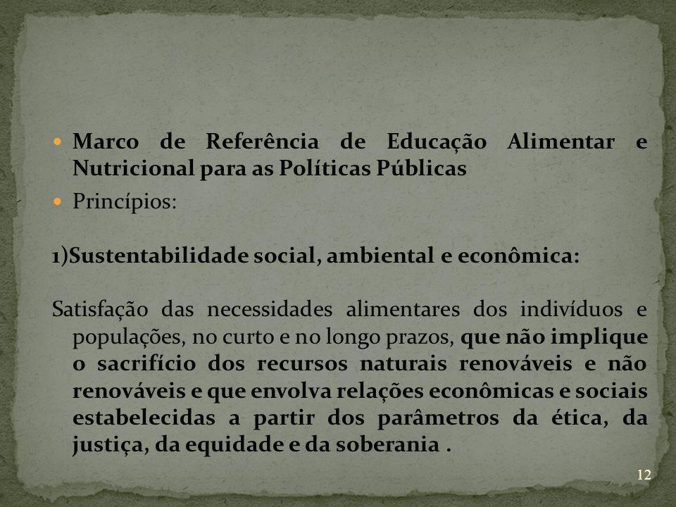 Marco de Referência de Educação Alimentar e Nutricional para as Políticas Públicas