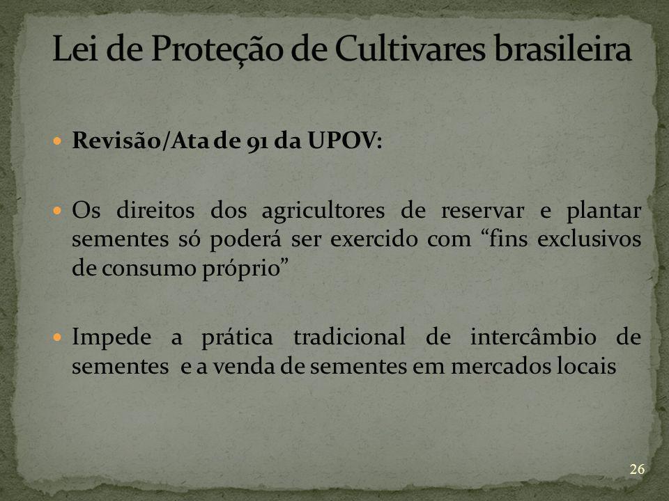Lei de Proteção de Cultivares brasileira